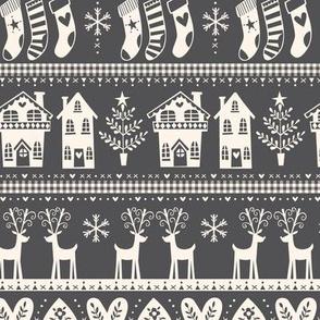 vintage nordic christmas charcoal