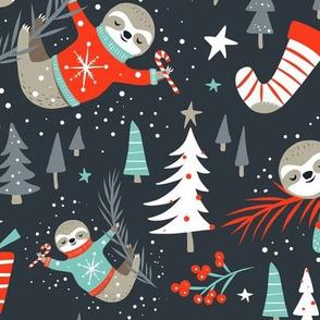 Slothy Holidays - Coal Black Medium Scale