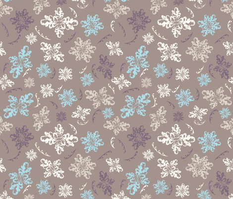 Lace Flowers on cafe au lait fabric by danny's_remake_remodel on Spoonflower - custom fabric