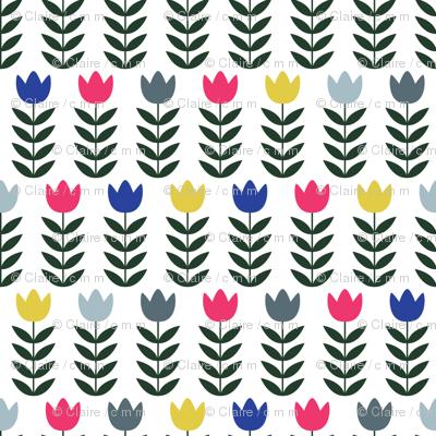 Folk Art Tulips