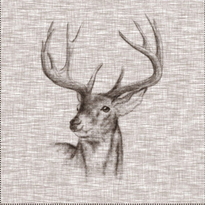 """18"""" Rustic Buck Pillow with Cut lines"""
