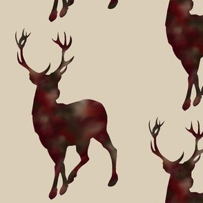 Mottled deer - burgandy