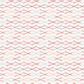 Needlework pair of scissors stripes