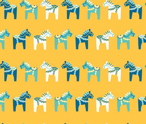 Dala horses  fabric by handypanda on Spoonflower - custom fabric