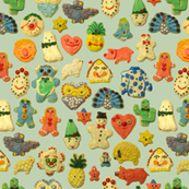 Cookie Friends light blue green