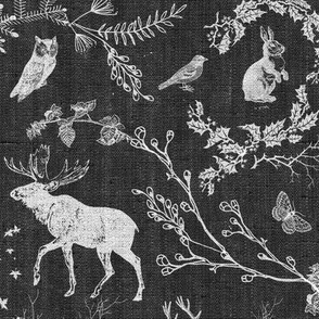 Woodland Winter Toile (monochrome)