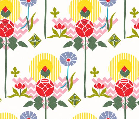 Swedish Modern Floral fabric by vinpauld on Spoonflower - custom fabric