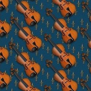 Violins with Fleur de Lis