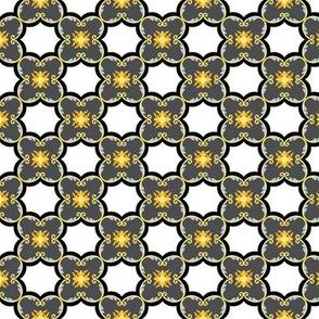 Floral Tiles - Grey