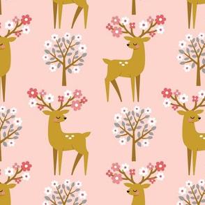 spring deer - blush