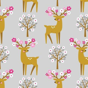 spring deer - light grey