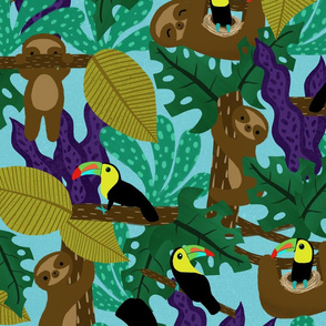 Sloth and Toucan Pals