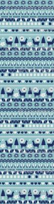 Navy Light Blue Folk Llama