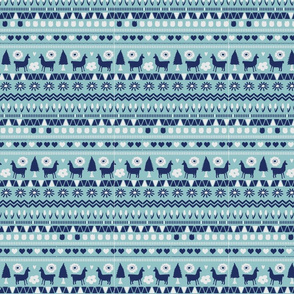 Navy Light Blue Folk Llama