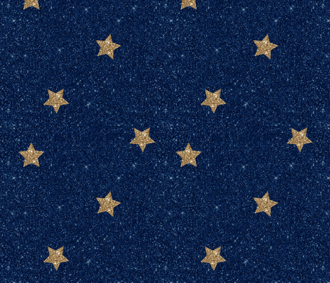 Glitter Stars fabric by pearls_and_picots on Spoonflower - custom fabric