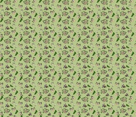 Piles Of Sloths Repeat Pattern Wallpaper Lauren Colgan