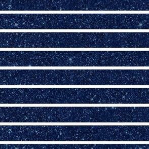 Blue Glitter Stripe