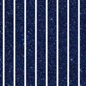 Blue Glitter Stripe Vertical