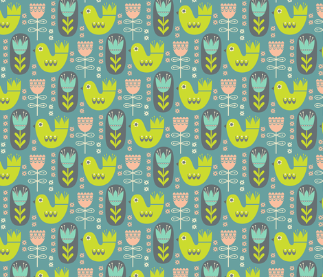 scandinavian garden fabric by studiojenny on Spoonflower - custom fabric