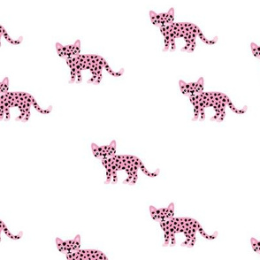 Dots and cats baby tiger wild cat panther pink girls
