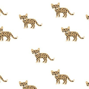 Dots and cats baby tiger wild cat panther ochre yellow gender neutral