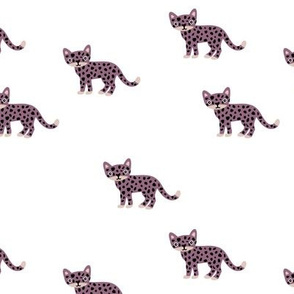 Dots and cats baby tiger wild cat panther purple winter