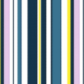 18-03j Jumbo Stripe Blue Slate Lilac Yellow Rough Edge