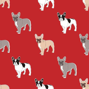 Three Frenchies (Red)