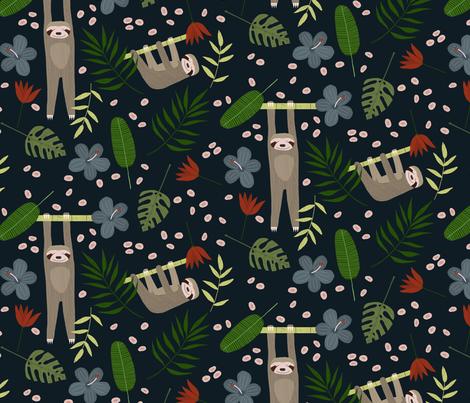 Sloth Love fabric by christina_steward on Spoonflower - custom fabric