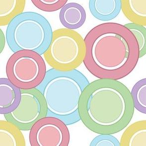 Pastel Rings & Circles (White)