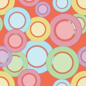 Pastel Rings & Circles (Peach)