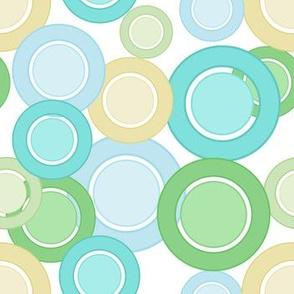 Pastel Circles (Green On White)