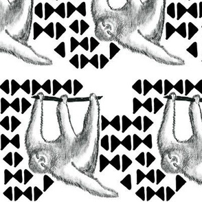 Houndstooth with sloth