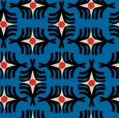 Geometric Southwestern Twist in Blue