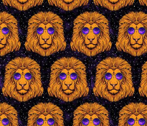Constellation Leo Lion fabric by mariafaithgarcia on Spoonflower - custom fabric