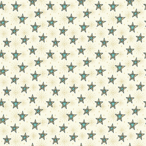 Stars with blue