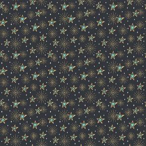 Stars on dark