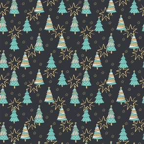 Christmas trees (dark)