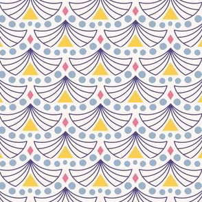 Time for tents / abstract geometric fun yellow blue design for packaging and homedecor