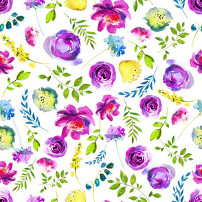 Lila Purple and Yellow Floral