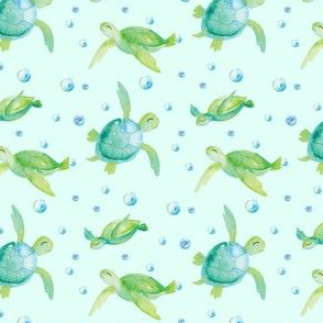 Watercolour Turtles 1inch