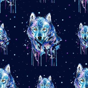 Watercolour Wolves