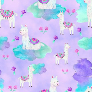 Lazy Llamas Clouded Purple