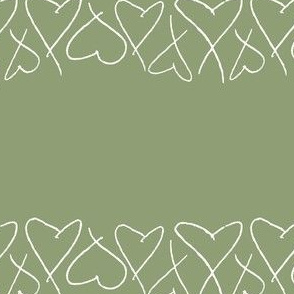Hearts | White on Green