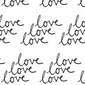 love | Black on White