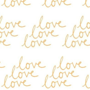 love | Yellow on White