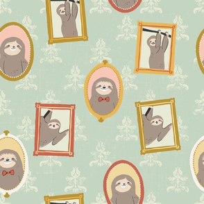 Sloth Family Portraits
