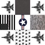 Air Force Faux Quilt rotated