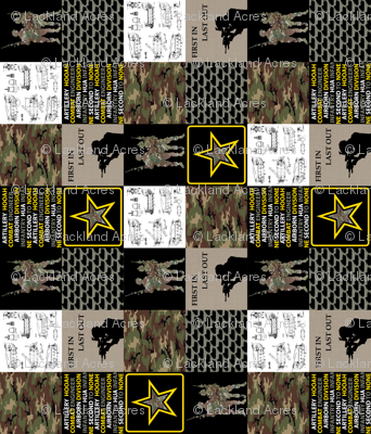 """6"""" Army Faux Quilt Rotated"""