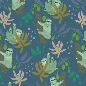 Jungle Sloths + Lizards